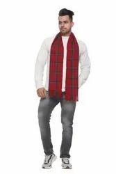 Designer Men Red Woolen Scarves