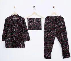 Indian Cotton Printed PJ Set Women Clothing Dress Night Wear Soft Pajama Suit