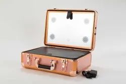 Shamax Makeup Cosmetic Cases With Light Mirror LED