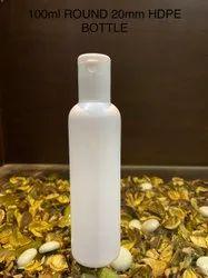 100ml Round 20mm HDPE white Bottle.