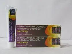 Dalegesic Gel ( Diclofenac Diethylamine, Linseed Oil, Methyl Salicylate, Menthol In Gel Base)