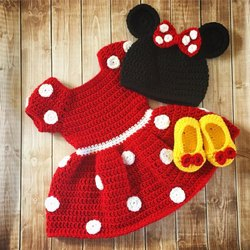 Girl Kids Mini Dress with Cap and Bootie