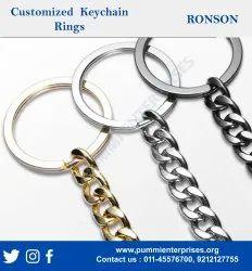 Flat key chain ring