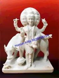 4 Feet Marble Dattatreya Bhagwan Statue
