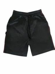 3/4th Length Men Black Cotton Shorts, Two