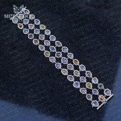 Tourmaline Gemstone Silver Bracelet