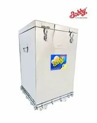 Bobby Brand 100 Kg Capacity Stainless Steel Rice Wheat Container With S.S. Trolley
