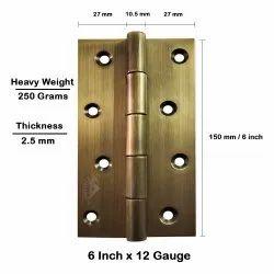 Atlantic Door Butt Hinges 6 inch x 12 Gauge/2.5 mm Thickness (Stainless Steel, Antique Finish)