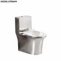One Piece Toilet Silver