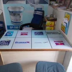 Glass And Vinyl Inshop Branding Table Top Advertising Service, In Rajasthan And Gujarat