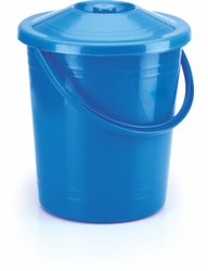 12 litre Plastic dustbin with lid and handle