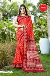 Ladies Designer Cotton Printed Saree