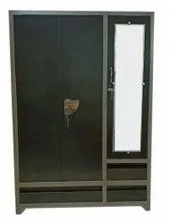 2 Doors 7feet Dressing Steel Almirah, With Locker