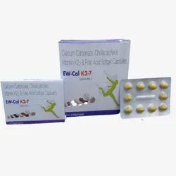 Calcium Carbonate Cholecalciferol Vitamin K27 Folic Acid- EW-Cal K27