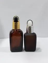 Imported 50ml Square Serum Bottle, Oil, Pack Size: 480/Box