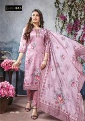 Ladies Printed Salwar Suit Fabric