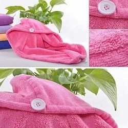 Newvent Microfiber Hair Drying Cap, Hair Wrap Absorbing Towel, For Personal, Size: 65cm