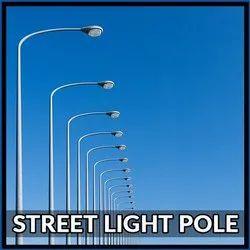 Galvanized Iron Street Light Pole
