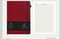 Hard Bounding Double Line Classic Writing Notebook, For School