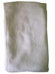 Plain 450GSM White Terry Cotton Bath Towel, For Bathroom, Size: 70x140cm