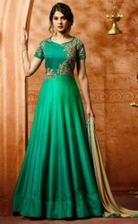 Party Wear Multicolor Latest Designer Georgette Heavy Work Salwar Suit, Size: Free Size