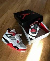 Men Mixed Nike Air Jordan 4 Fire Red