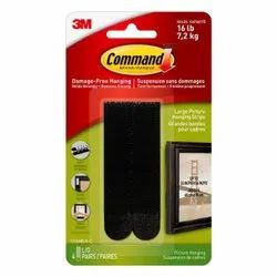 3M Command Large Picture Hanging Strips Black 4pk - 17206BLK