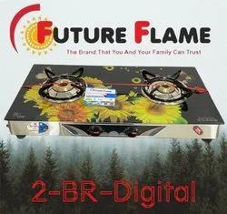 2 Burner Glass Top Gas Stove, For Kitchen, Model Name/Number: 2BP102M