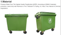 Waste Container 660 Litre Wheeled