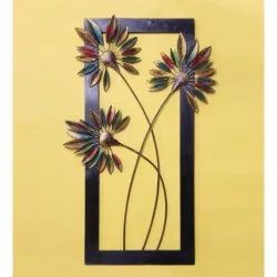 Iron Unique Modern Art Multi Color New Flower Wall Panel