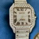 Moissanite Studded Iced Out Watch, 41mm Dial Mens Watch 20