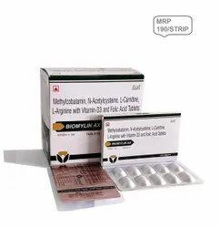 Methylcobalamin 1500 mcg, N-Acetylcysteine , L-Carnitine , L-Arginine , Vit D3 &, Folic Acid Tab