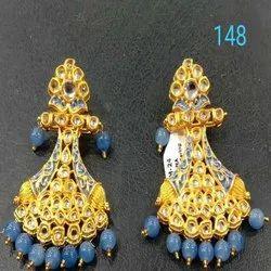 2021 New Design Western Kundan Earring Set For Women And Girl Bijoux