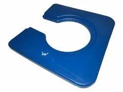 Blue Plastic Invailid toilet seat, For Hospital
