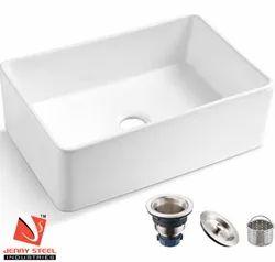 White Ceramic Grains Sink