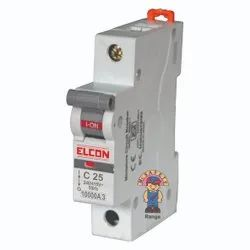 Elcon Mr.SAFETY 25A Single Pole Miniature Circuit Breakers Mcbs