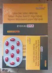 Etocal DHA Calcium Orotate, Calcium Asparate Calcitriol