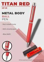 Metal Body Ball Pen Titan Red