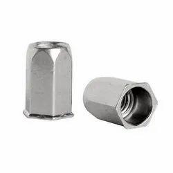 Stainless Steel Broaching Hexagonal Rivet Nut, Size: M3 To M16