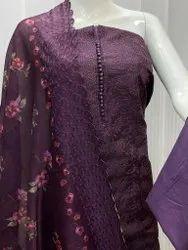 Handwork Cotton Silk Salwar Suit