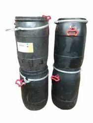 Black 210 Litre Plastic Barrel, For Water Storage