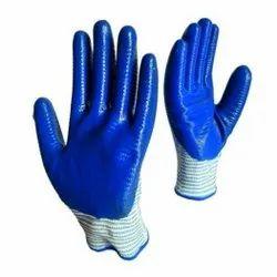 Blue Frontline Wave Nitrile Gloves