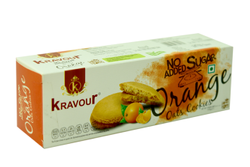 Kravour Sugar Free Orange Oats Cookies, Packaging Size: 150g