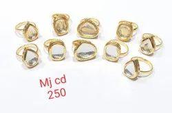 kundan finger ring