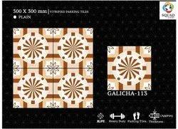 Porcelain Beige Vitrified Digital Parking Tile, Thickness: 8 - 10mm, Size: Medium