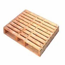 Rectangular Brown Rubber Wooden Pallet, For Packaging, Capacity: 500 kg