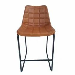 Brown Wrought Iron Bar Chair, Size: 45 X 45 X 95