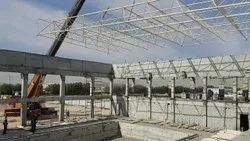 Mild Steel Space Frame Structure, For Large Roofs