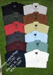 Plain Cottan Lycra Shirts