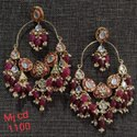 Meenakari Chandbali Earrings